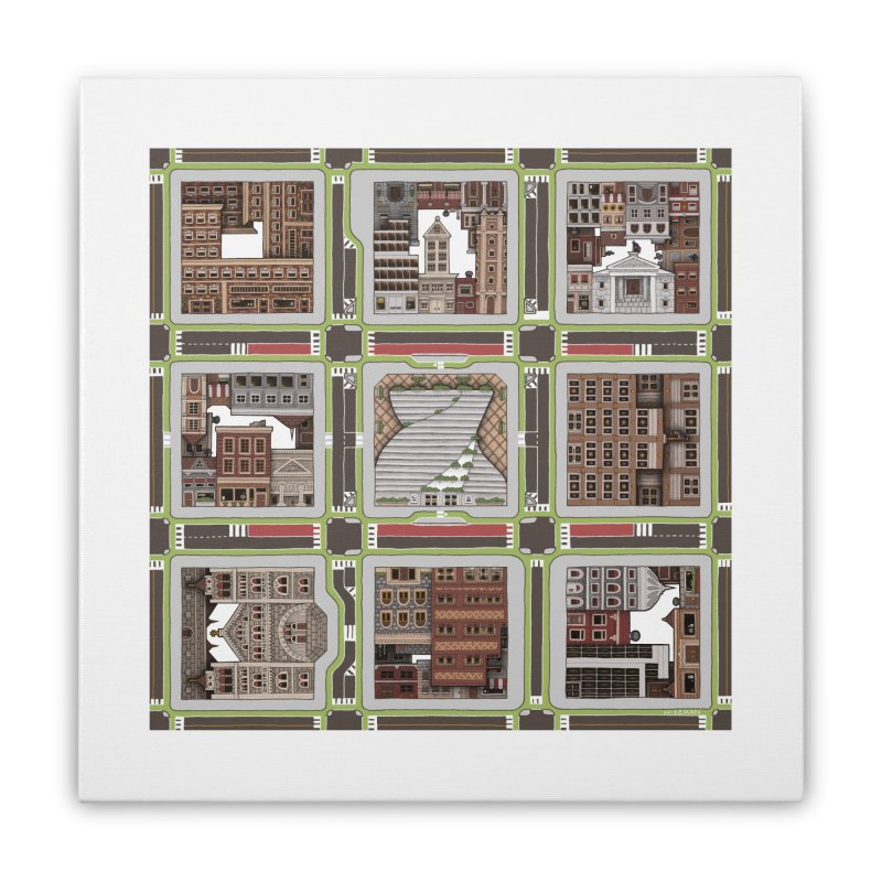 Urban Plaid Home Stretched Canvas by BRETT WISEMAN