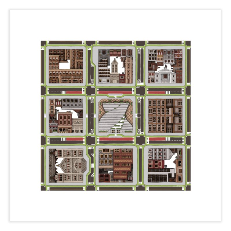 Urban Plaid Home Fine Art Print by BRETT WISEMAN