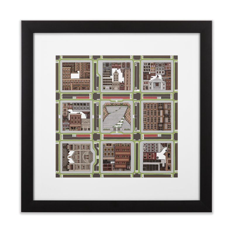 Urban Plaid Home Framed Fine Art Print by BRETT WISEMAN