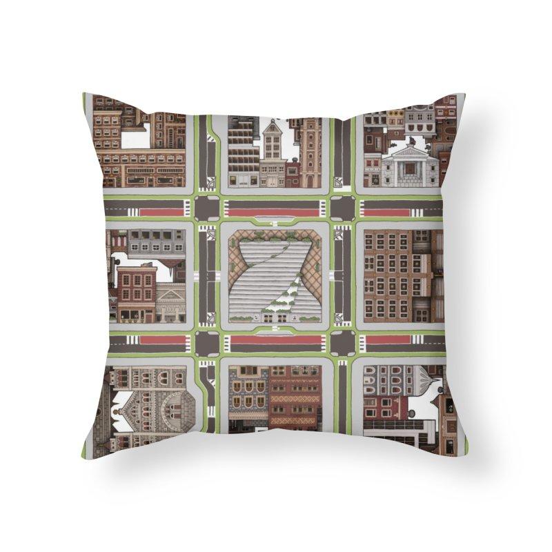Urban Plaid Home Throw Pillow by BRETT WISEMAN