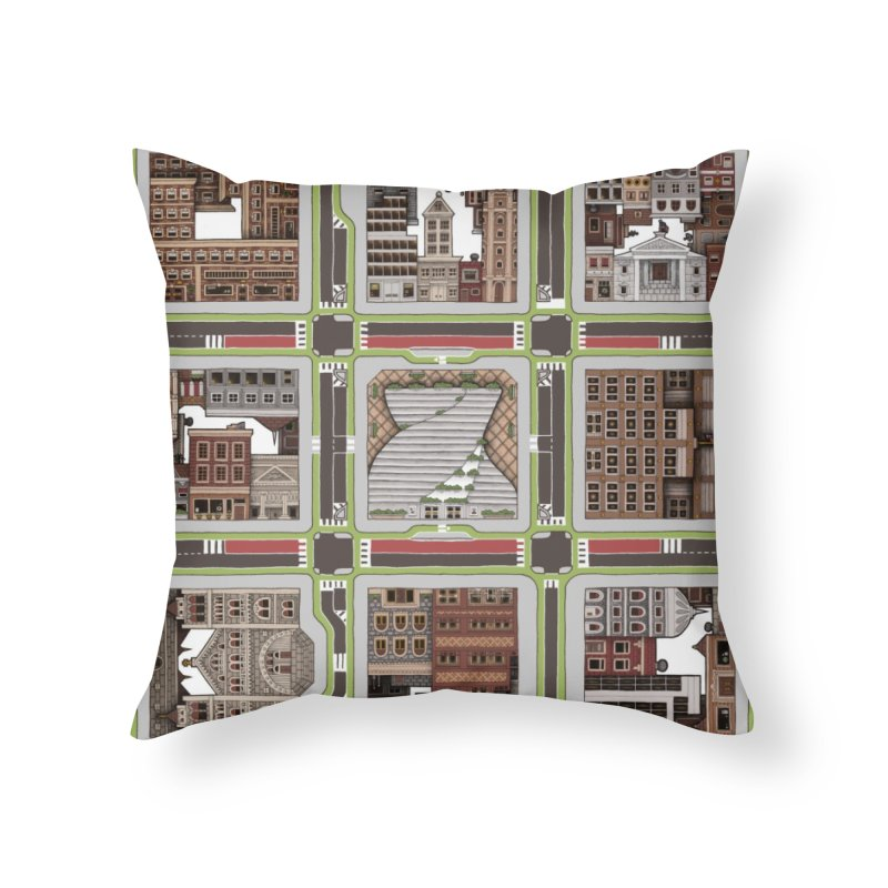 Urban Plaid Home Throw Pillow by BRETT WISEMAN