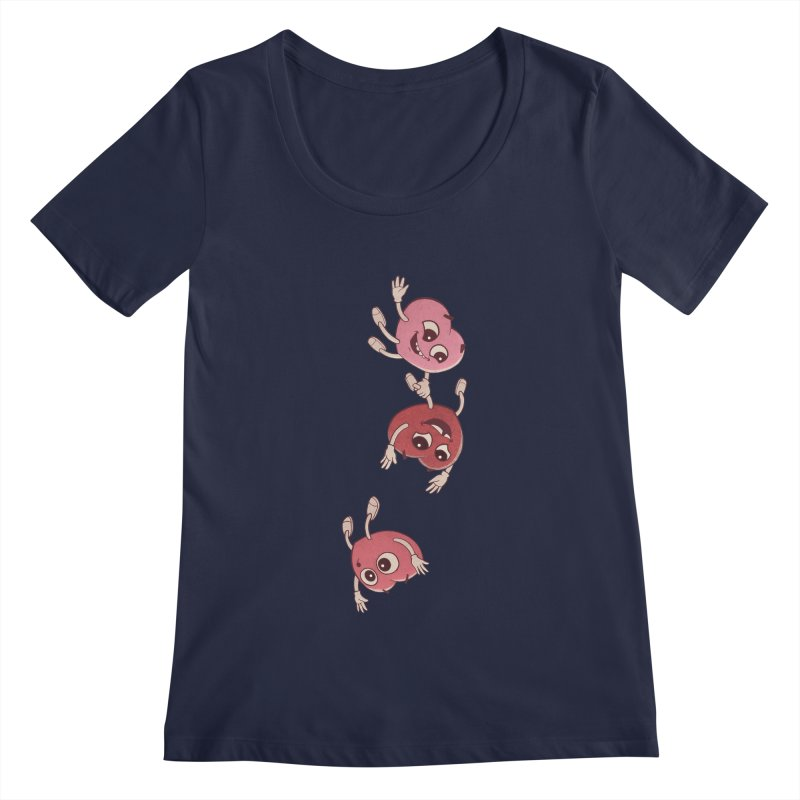 Falling in Love Women's Regular Scoop Neck by BRETT WISEMAN