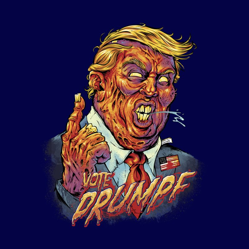 Zombie Trump None  by brian allen's Artist Shop