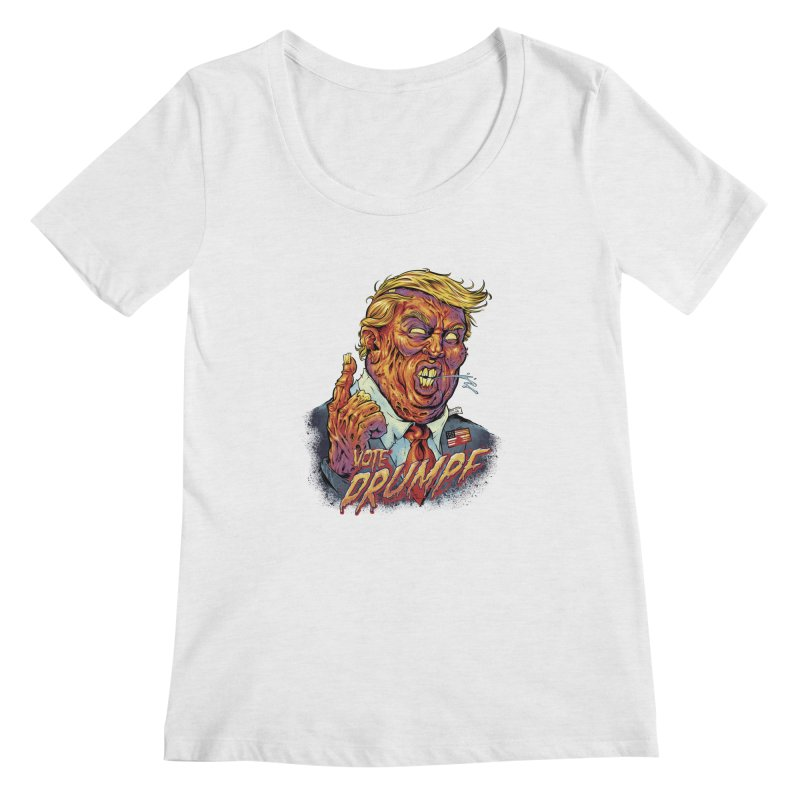 Zombie Trump Women's Scoopneck by brian allen's Artist Shop