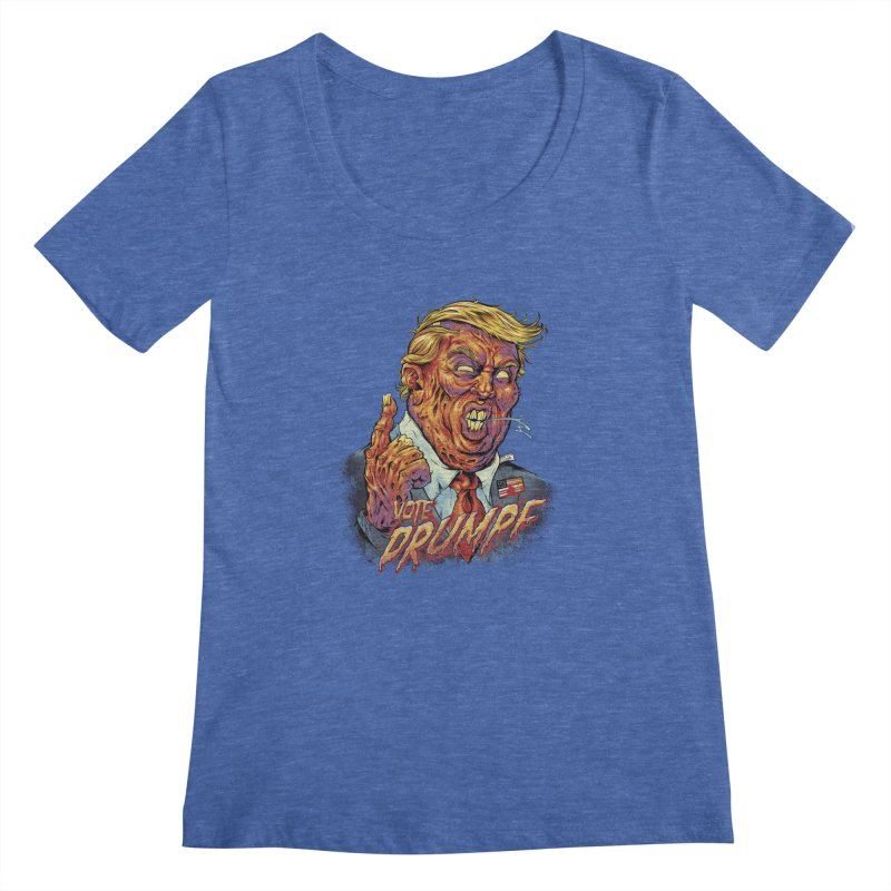 Zombie Trump Women's Scoopneck by brian allen's Artist Shop