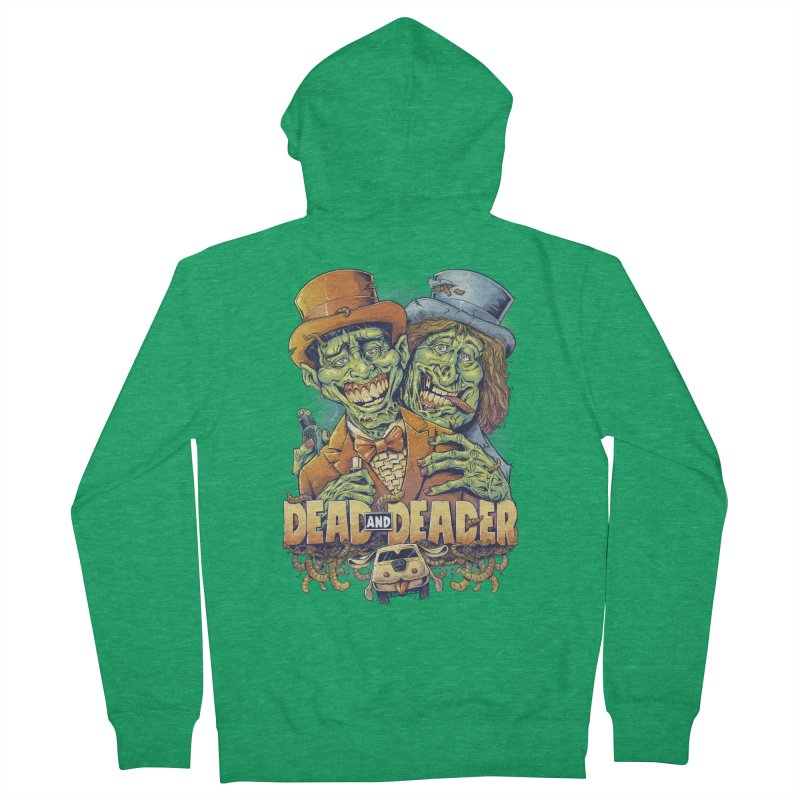 Dead and Deader Men's Zip-Up Hoody by brian allen's Artist Shop