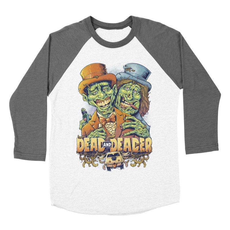 Dead and Deader Women's Baseball Triblend T-Shirt by brian allen's Artist Shop