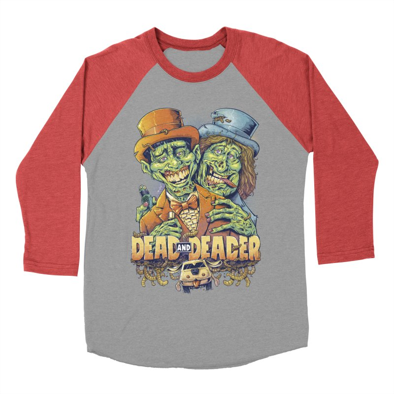 Dead and Deader Men's Baseball Triblend T-Shirt by brian allen's Artist Shop
