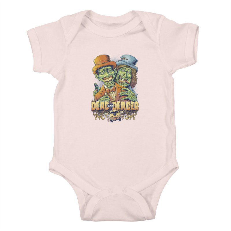 Dead and Deader Kids Baby Bodysuit by brian allen's Artist Shop