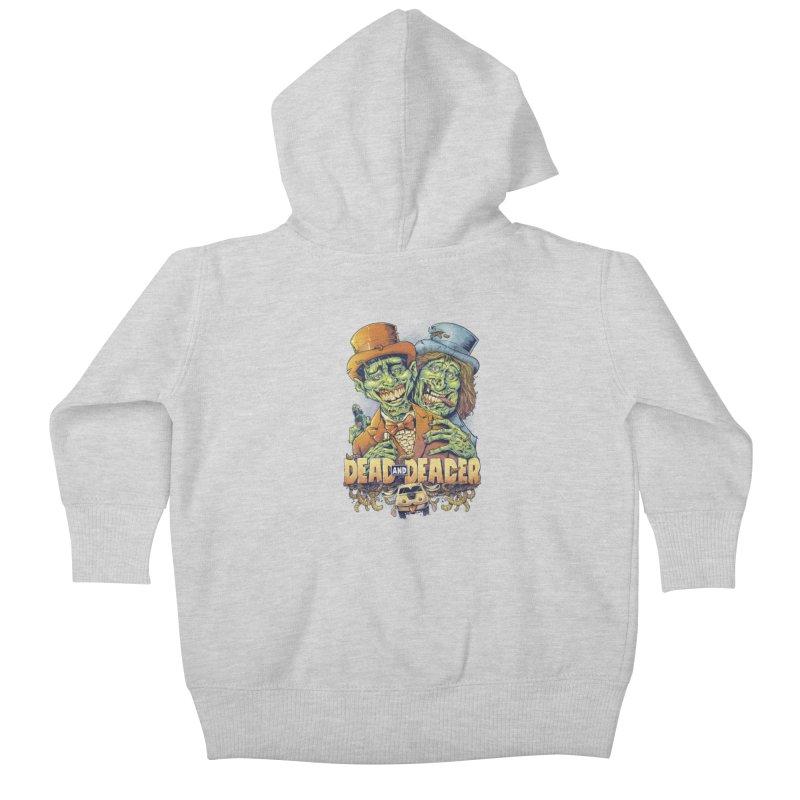Dead and Deader Kids Baby Zip-Up Hoody by brian allen's Artist Shop