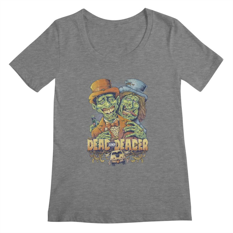 Dead and Deader Women's Scoopneck by brian allen's Artist Shop