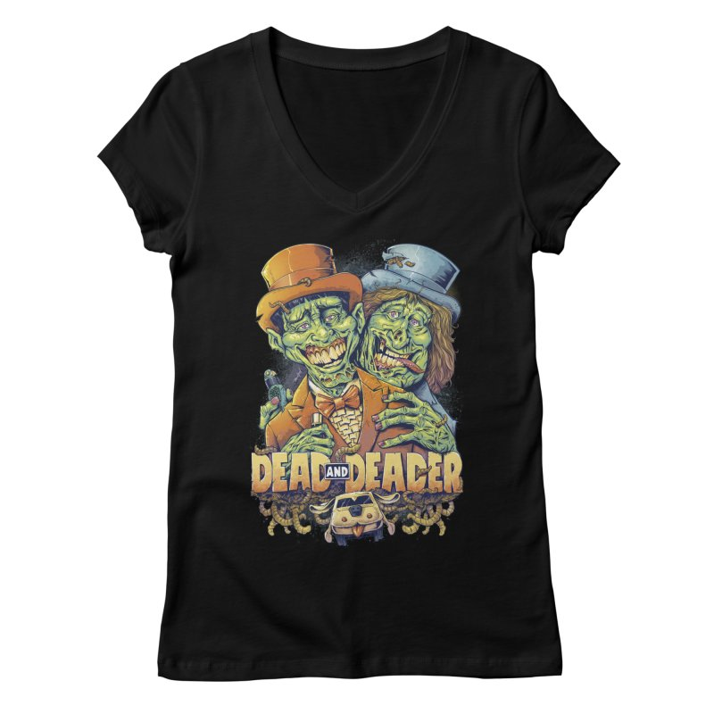 Dead and Deader Women's V-Neck by brian allen's Artist Shop