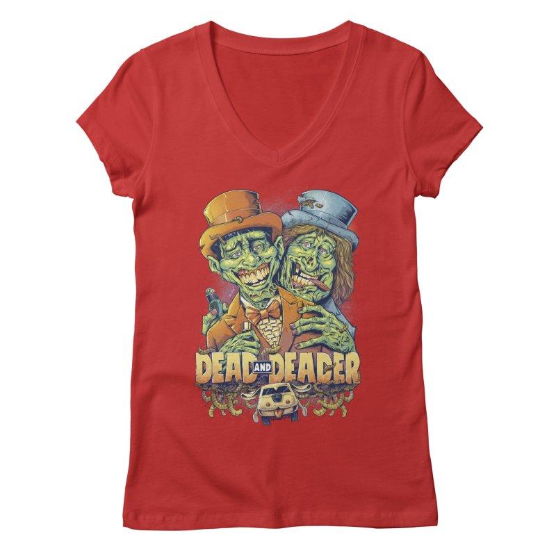 Dead and Deader Women's V-Neck by brian allen's Artist Shop