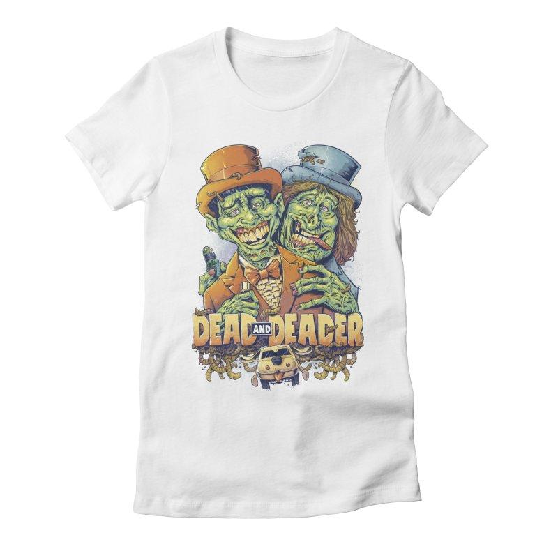 Dead and Deader Women's Fitted T-Shirt by brian allen's Artist Shop