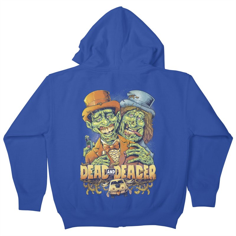 Dead and Deader Kids Zip-Up Hoody by brian allen's Artist Shop