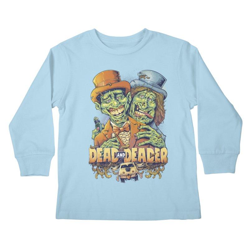 Dead and Deader Kids Longsleeve T-Shirt by brian allen's Artist Shop