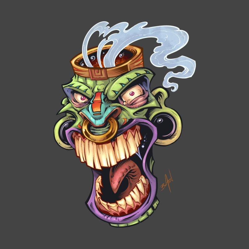 Smoking Tiki Head None  by brian allen's Artist Shop