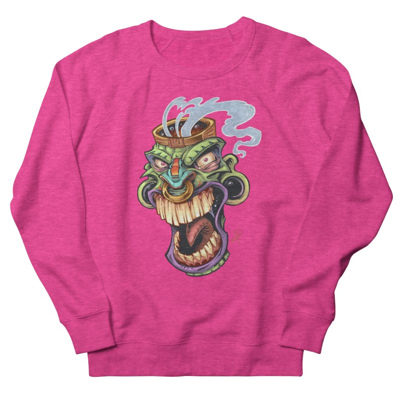 Smoking Tiki Head Men's Sweatshirt by brian allen's Artist Shop