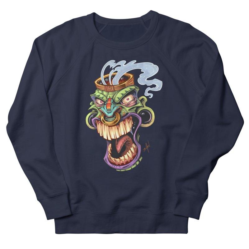Smoking Tiki Head Men's Sweatshirt by brian allen's Artist Shop