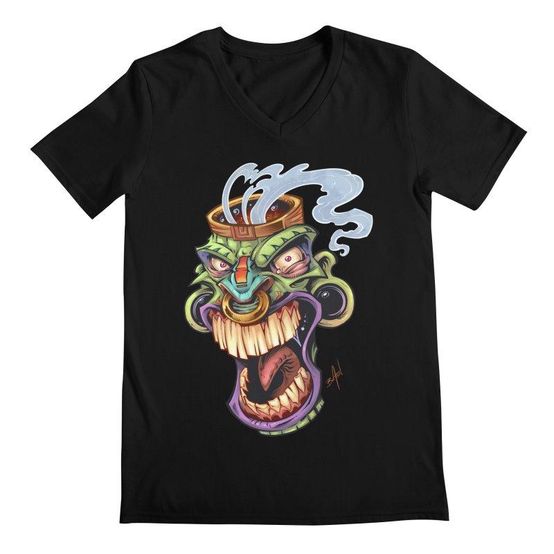Smoking Tiki Head   by brian allen's Artist Shop