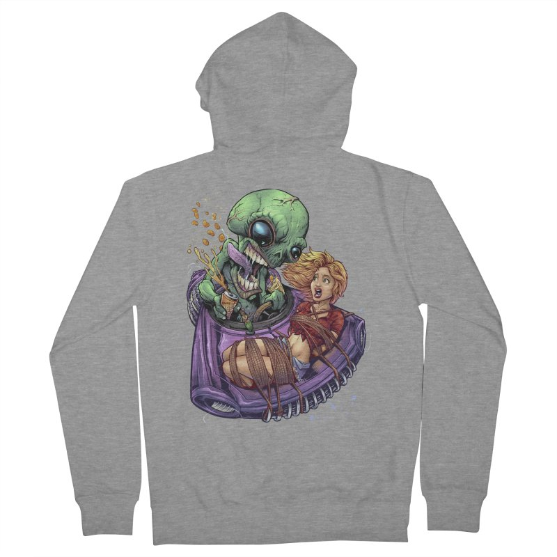 Alien Take out Women's Zip-Up Hoody by brian allen's Artist Shop