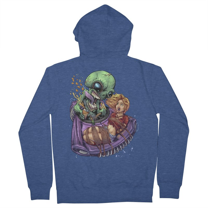 Alien Take out Men's Zip-Up Hoody by brian allen's Artist Shop
