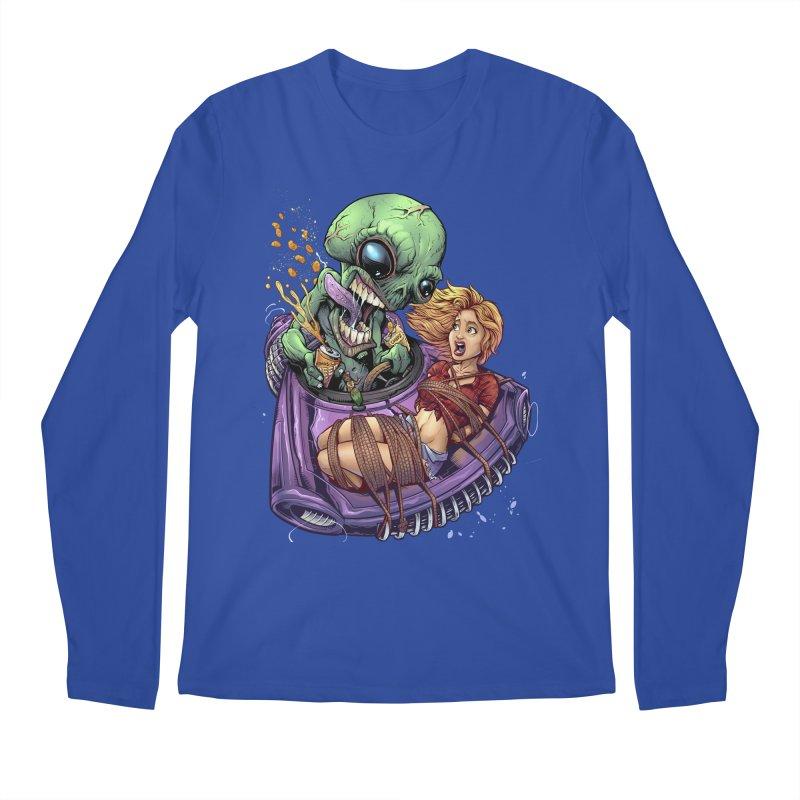 Alien Take out Men's Longsleeve T-Shirt by brian allen's Artist Shop