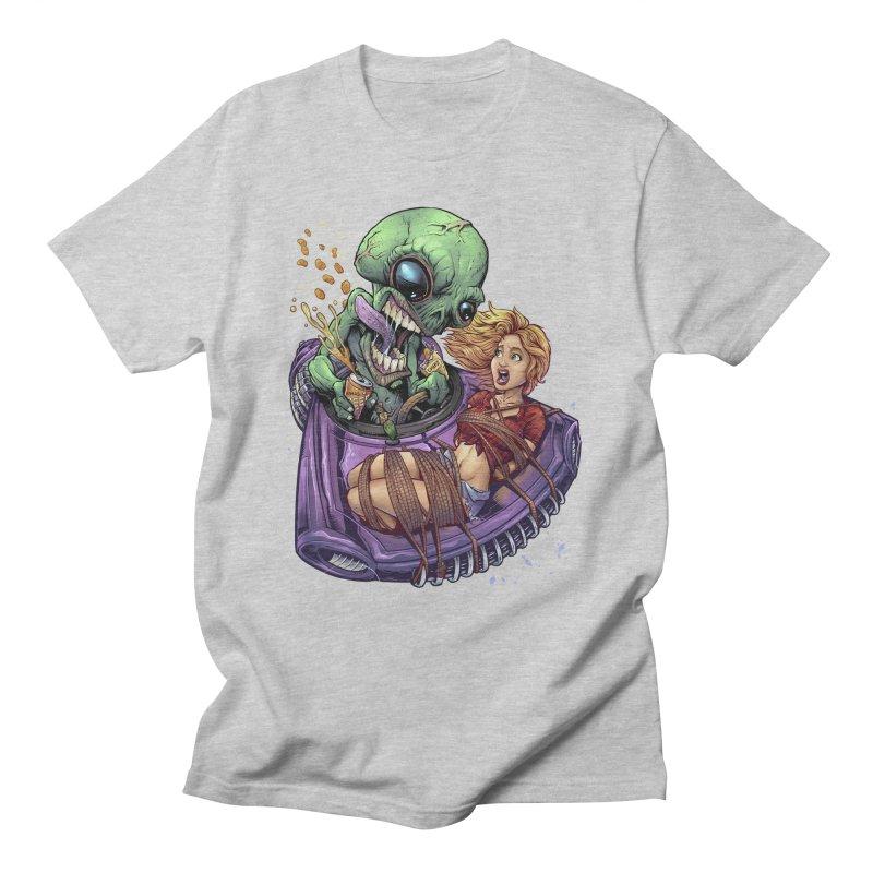 Alien Take out Men's T-Shirt by brian allen's Artist Shop