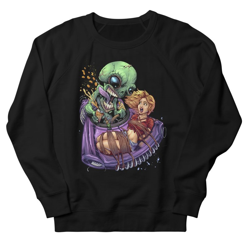 Alien Take out Men's Sweatshirt by brian allen's Artist Shop