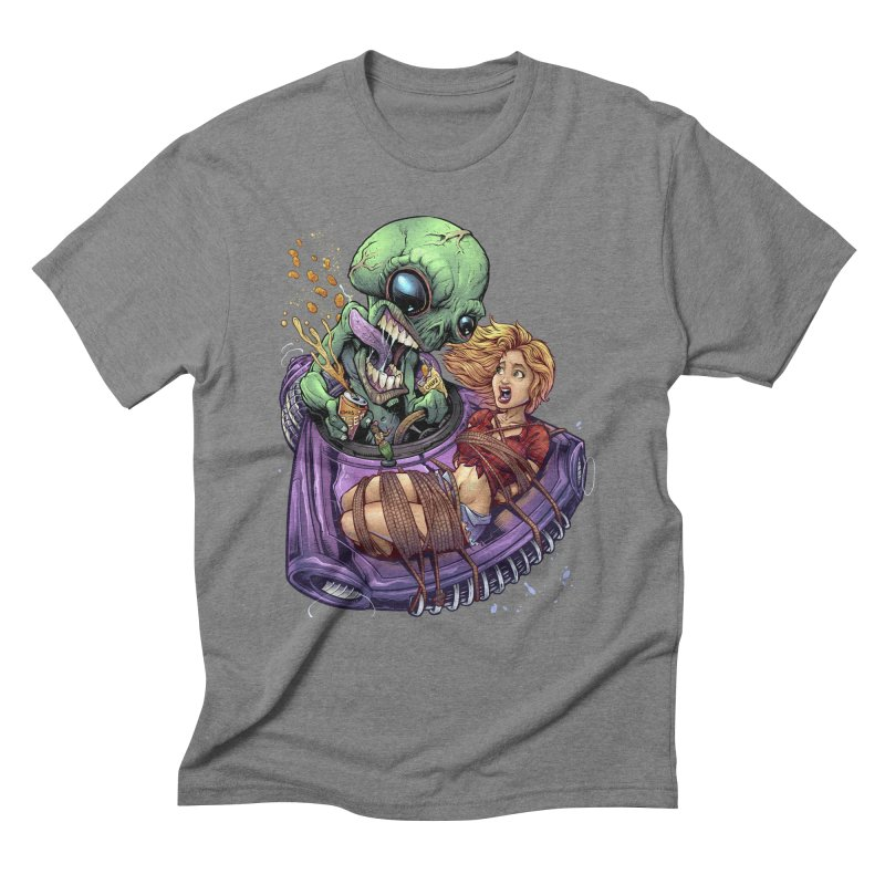 Alien Take out Men's Triblend T-shirt by brian allen's Artist Shop