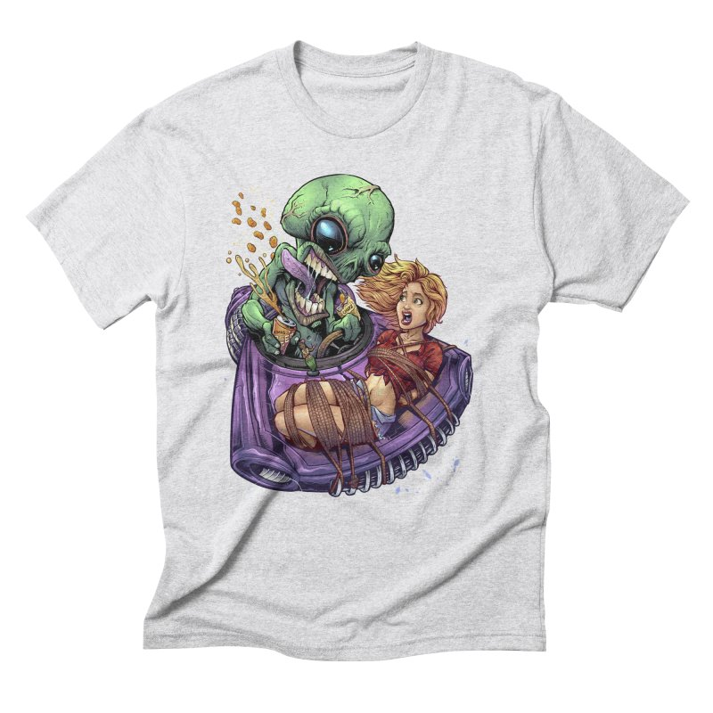 Alien Take out Men's Triblend T-Shirt by brian allen's Artist Shop