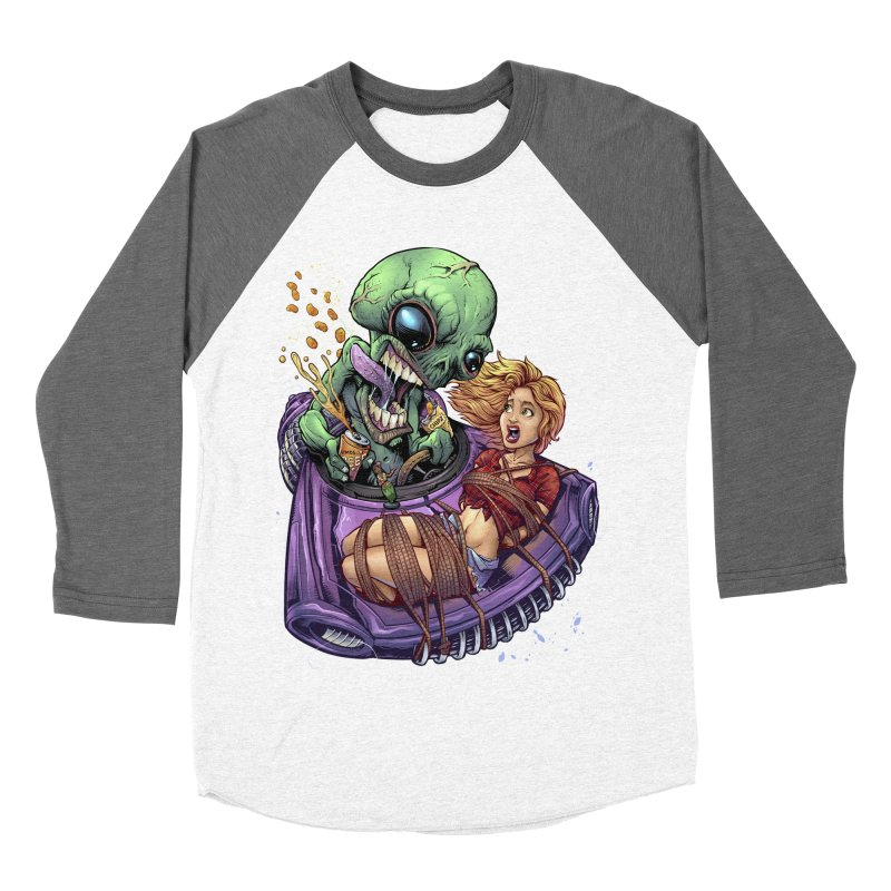 Alien Take out Women's Baseball Triblend T-Shirt by brian allen's Artist Shop