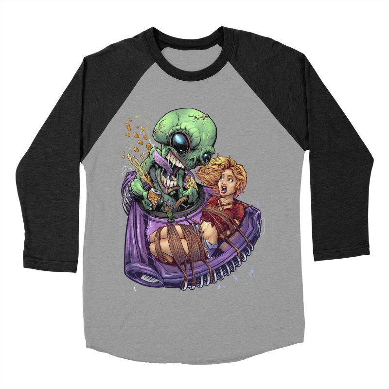 Alien Take out Men's Baseball Triblend T-Shirt by brian allen's Artist Shop