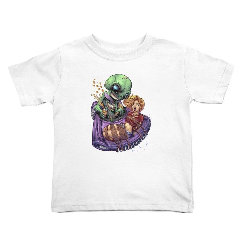 Alien Take out Kids Toddler T-Shirt by brian allen's Artist Shop