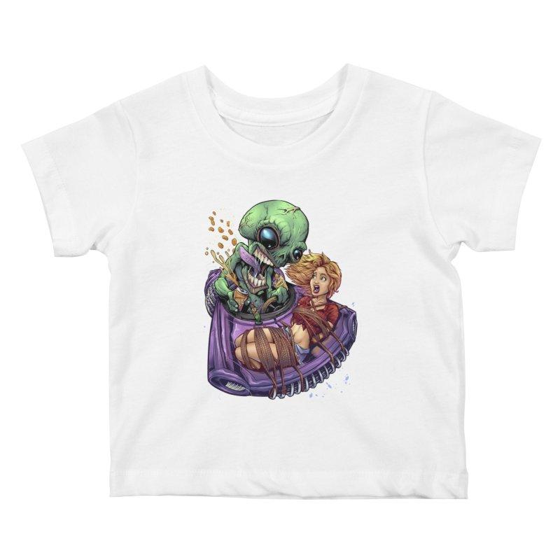 Alien Take out Kids Baby T-Shirt by brian allen's Artist Shop
