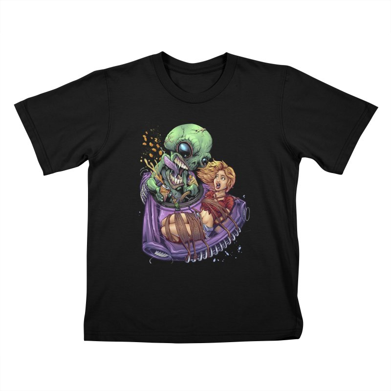 Alien Take out Kids T-shirt by brian allen's Artist Shop