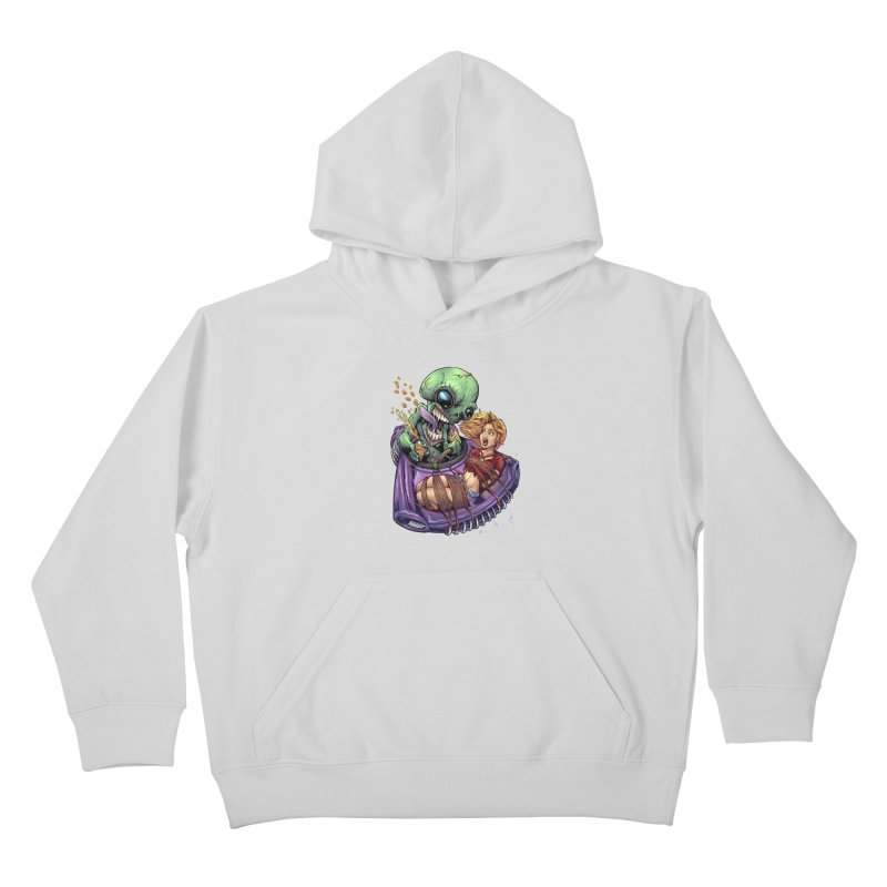 Alien Take out Kids Pullover Hoody by brian allen's Artist Shop