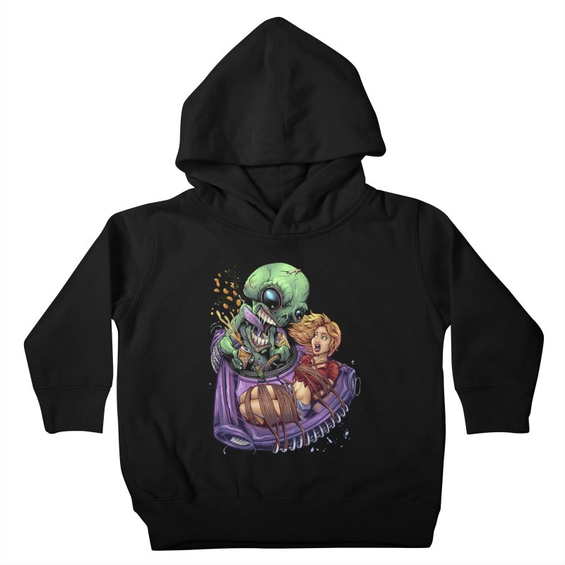 Alien Take out Kids Toddler Pullover Hoody by brian allen's Artist Shop