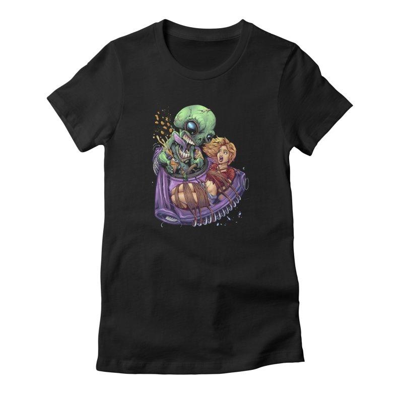 Alien Take out Women's T-Shirt by brian allen's Artist Shop