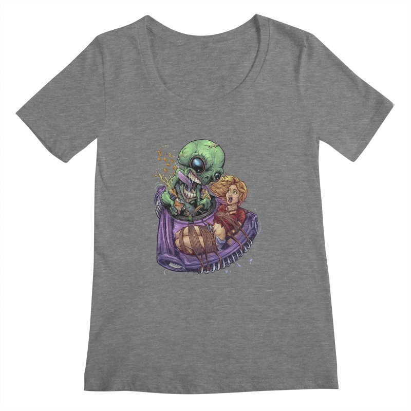 Alien Take out Women's Scoopneck by brian allen's Artist Shop