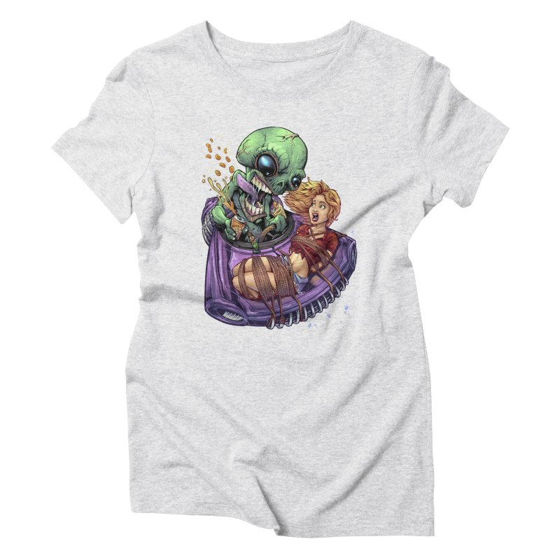 Alien Take out Women's Triblend T-shirt by brian allen's Artist Shop