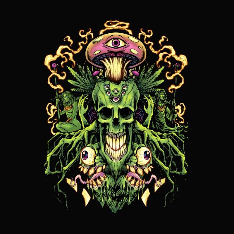 Marijuana Skull and Mushrooms by brian allen's Artist Shop