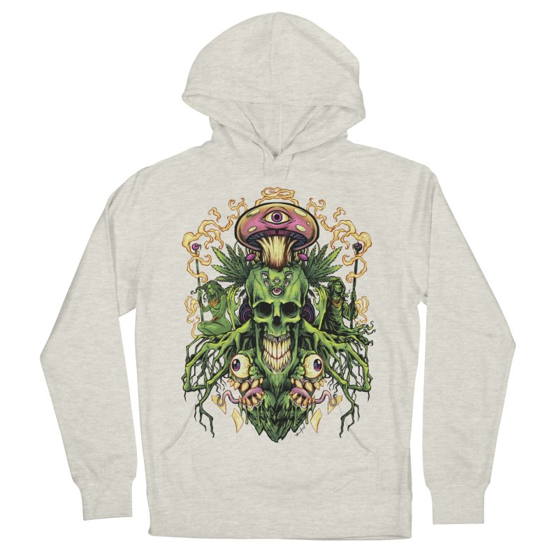 Marijuana Skull and Mushrooms Women's Pullover Hoody by brian allen's Artist Shop
