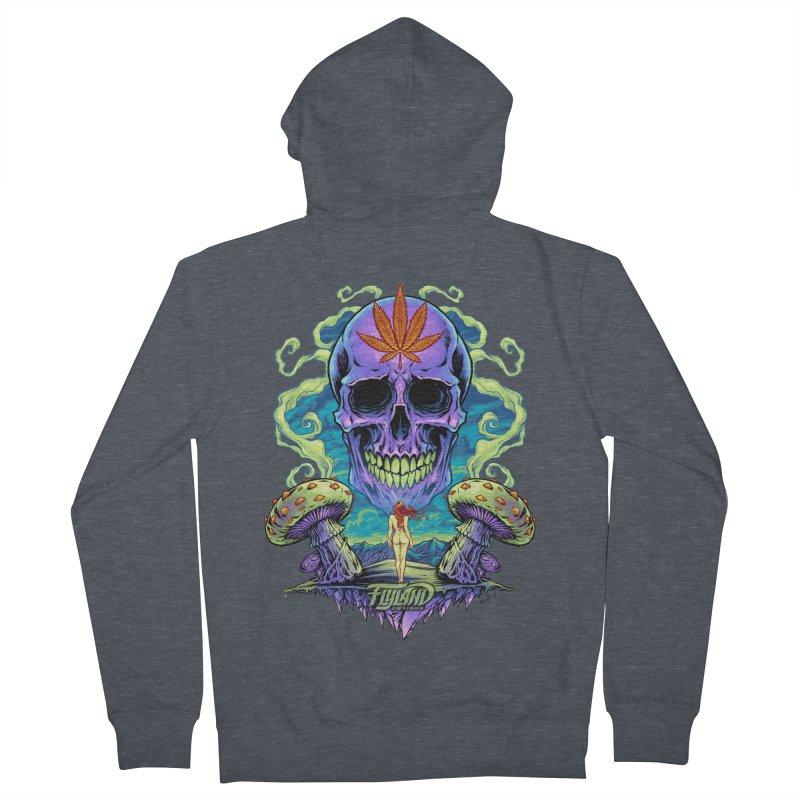 Purple Cannabis Skull with Mushrooms Women's Zip-Up Hoody by brian allen's Artist Shop