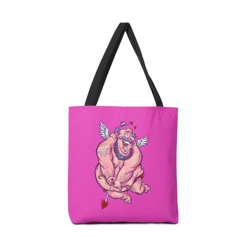 Valentine's Day Hipster Cuipd Accessories Bag by brian allen's Artist Shop