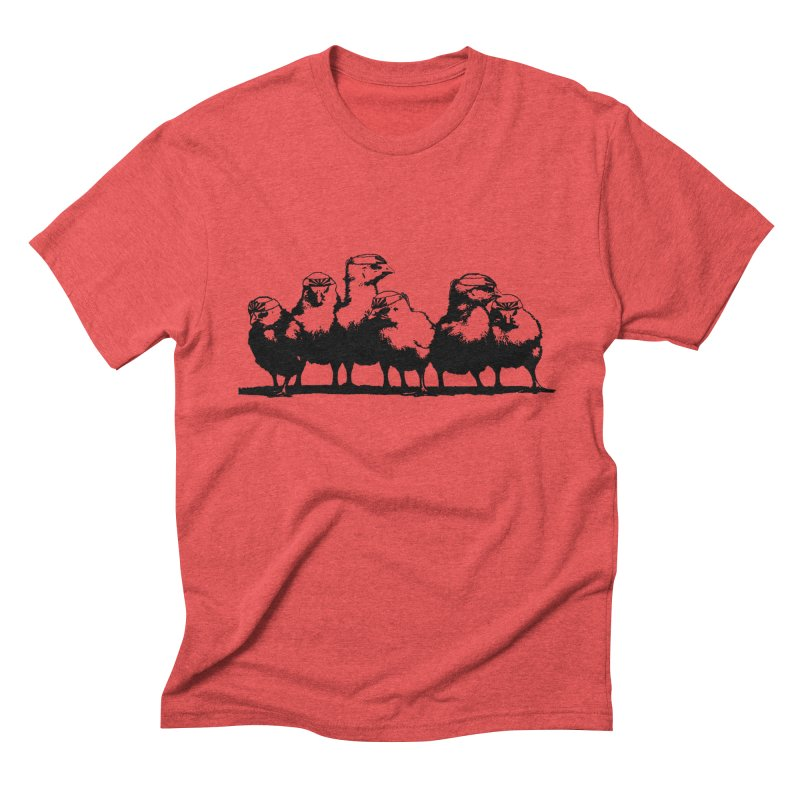 Kung Fu Chickens Men's Triblend T-Shirt by brianamccarthy's Artist Shop