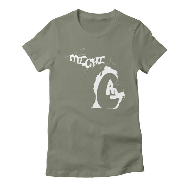 Michigal Women's Fitted T-Shirt by brianamccarthy's Artist Shop