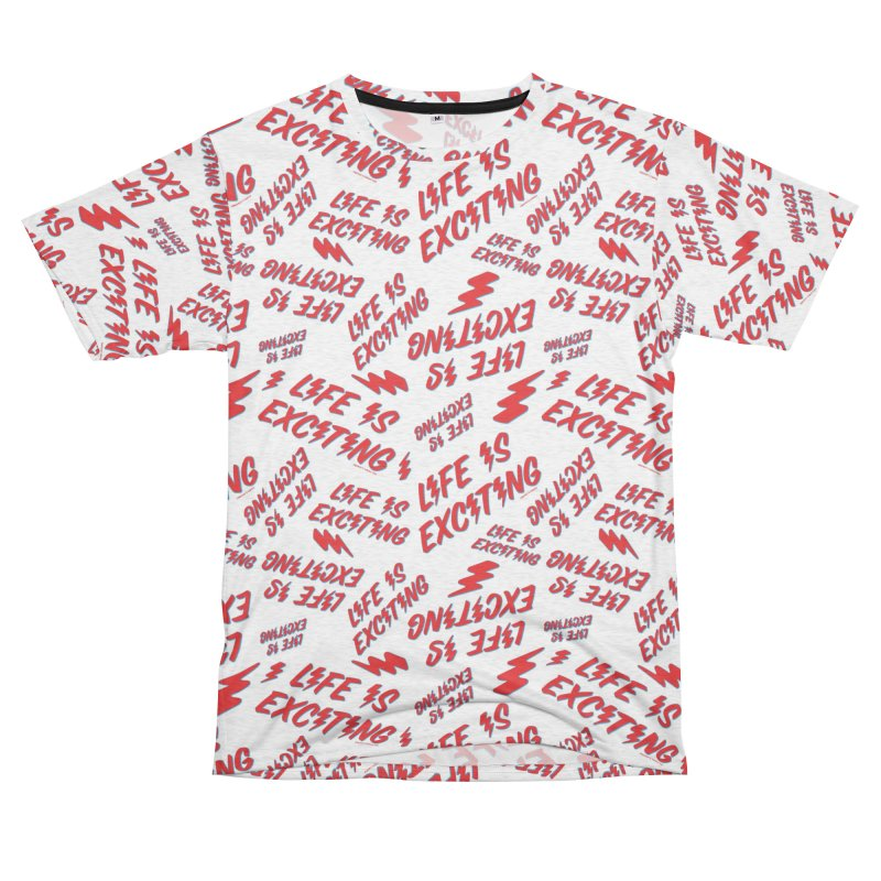 Life Is Exciting (Outline) [All Over Print] Men's Cut & Sew by Smokey's Tangle