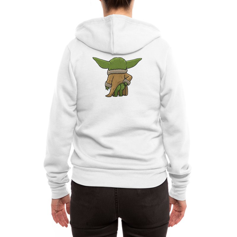 Backside of the Force Women's Zip-Up Hoody by Brian Cook