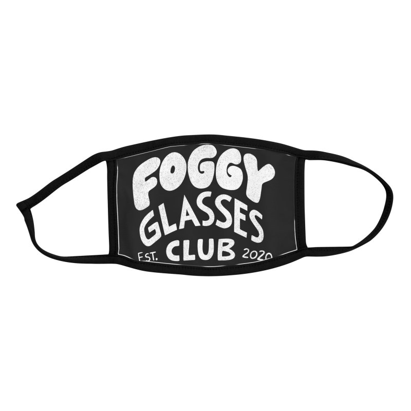 Foggy Glasses Club Accessories Face Mask by Brian Cook